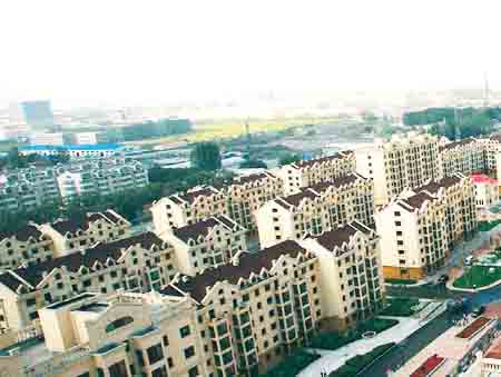 One of China's many new public housing complexes. Last year China started construction of over ten million new public housing dwellings.