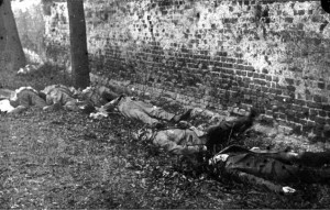 Berlin, March 1919: German revolutionaries lie murdered after summary executions at the hands of right-wing, nationalist death squads known as the Freikorps and upon the orders of Gustav Noske, Defence Minister and member of parliament for the Social Democratic Party of Germany (SPD.) At the end of World War 1, the leadership of the (nominally socialist) SPD sided with the old brutal imperialist establishment and were instrumental in violently suppressing the German revolution and nascent workers' and soldiers' councils who were on the brink of bringing a soviet-style workers' state into being in war-ravaged Germany.