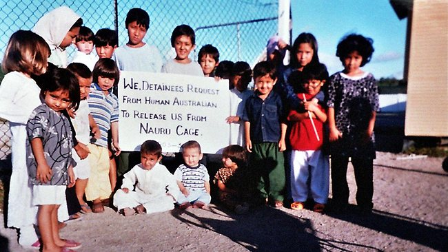 Children imprisoned on Nauru in offshore immigration detention  (Image by scoop.co.nz)
