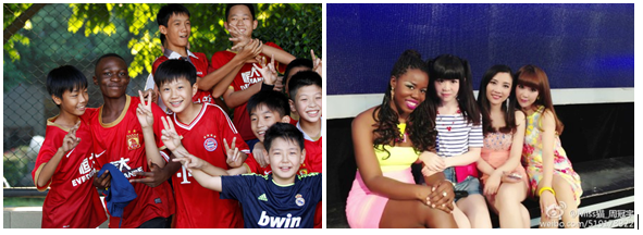 "Left: A young African migrant to China from the Democratic Republic of Congo with team mates in his youth soccer team in Guangzhou. Right: Debujiada Best, a migrant to China from Guinea Bissau with fellow contestants at popular Chinese dating show, If You Are the One. In 2013, the Masters of Economic student at China's Heilongjiang University became one of the most popular contestants on the show and a social media sensation in China because of her assertiveness and expressed social values. In the socialistic Peoples Republic of China (PRC), migrants from Africa and other parts of Asia do not, in general, meet the extreme and often threatening hostility that they face in capitalist countries like Australia, France, Hungary, Ukraine, Russia etc. Some problems with racism are however still prevalent in China, where the transition to socialism is far from complete and remains tenuous. Inherited backward values from China's pre-1949 capitalist-feudal times have not been fully overcome and market reforms exacerbate wealth and class divisions and thus recall the old stereotypes where darker skin was associated with poor peasants toiling in the fields. In terms of the times since the 1949 anti-capitalist revolution, these problems were worst in the PRC's most right-wing period in the late 1980s, when the government toned down statements of solidarity with ex-colonial countries, when the West was glorified in many quarters and when the then rapid roll out of pro-market measures was leading to widespread economic insecurity. In late 1988- early 1989 right-wing Chinese students rioted against African students in Nanjing. The Chinese students linked protests at what they said was the Communist Party of China (CPC) favouring African students at the expense of local students to demands for ""Human Rights."" These racist, pro-""Human Rights"" demonstrations became the pre-cursor to the June 1989 Tiananmen Square protests that began with rallies by students linked to the liberal, right-wing of the CPC. Despite lingering problems, today, darker-skinned migrants to mainland China not only face a far lesser threat of racist violence than they do in capitalist Australia, North America, Europe and Russia but are also better treated than non-Chinese people in capitalist, ethnic Chinese-majority parts of the world like Singapore and Hong Kong. The final triumph of socialism in China and worldwide will see the creation of societies fully free of racial oppression and prejudice."