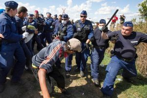 September 2015: Hungarian police brutally attack refugees. Capitalist counterrevolution in Hungary has led to an explosion of racist violence by the Hungarian police and fascist paramilitary groups.