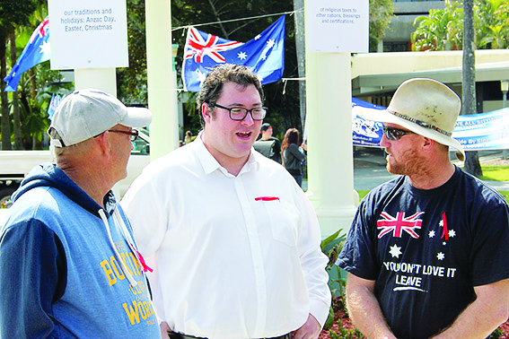 "George Christensen (Centre), an MP from the federal Coalition government, spoke at the 19 July 2015 ""Reclaim Australia"" racist rally in Mackay. Small-l liberal figures and their social democratic promoters claim that mainstream politicians can be won over to the struggle against far-right racism. But, actually, these politicians are a big part of the reason why the extreme racist forces are growing."