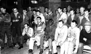 1967: Aboriginal activists from the Gurundji stockmen and domestic hands' strike together with Builders Labourers Federation (BLF) members at a meeting to support the Gurundji struggle for land rights. The leftist-led BLF trade union would later play a key role in the Aboriginal struggle for affordable housing on Redfern's The Block. The workers' movement must stand solidly behind the struggle for justice of Aboriginal people.