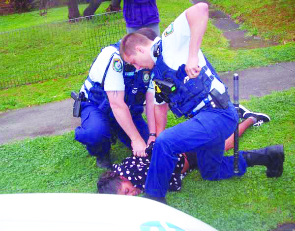 In September 2010 racist police used the bogus pretext of a noise complaint to brutalise Aboriginal woman, Tisha Hickey, at the end of her own 21st birthday party. The violent police attack caused bruises and cuts to her leg, arms and abdomen. Tisha is a relative of TJ Hickey, the 17 year-old Aboriginal youth who was killed by racist police in Redfern in February 2004. Since TJ's murder, police have used violence and harassment to persecute his family and relatives for their refusal to give up the fight for justice for TJ. The official violence of the police, detention centre guards and spy agencies emboldens the violent far-right racist groups.