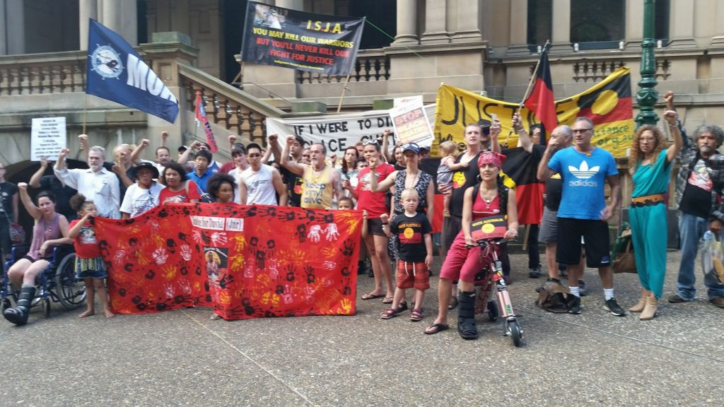 Rally for David Dungay at Sydney Town Hall.