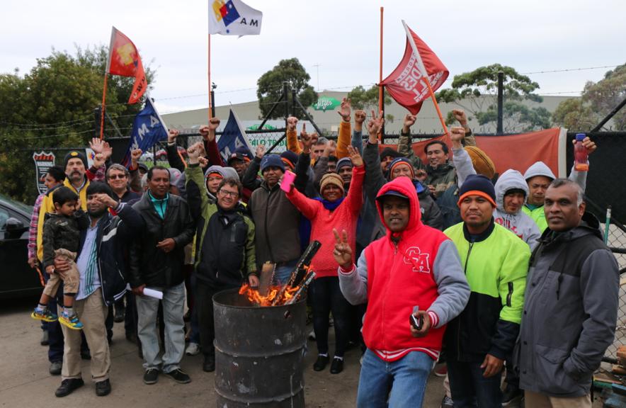 Bitzer Workers picket