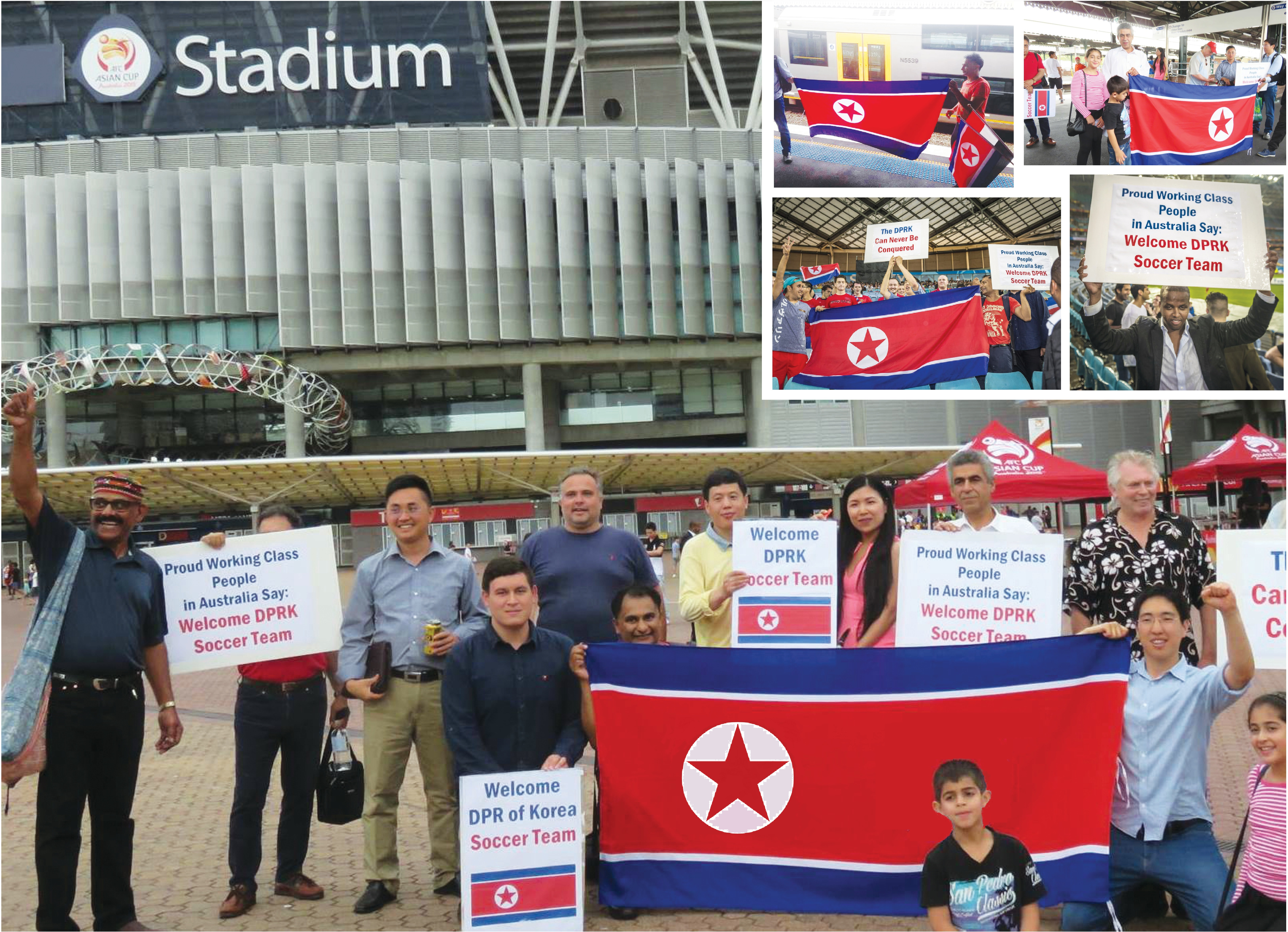 DPRK Asia Cup photo outside stadium
