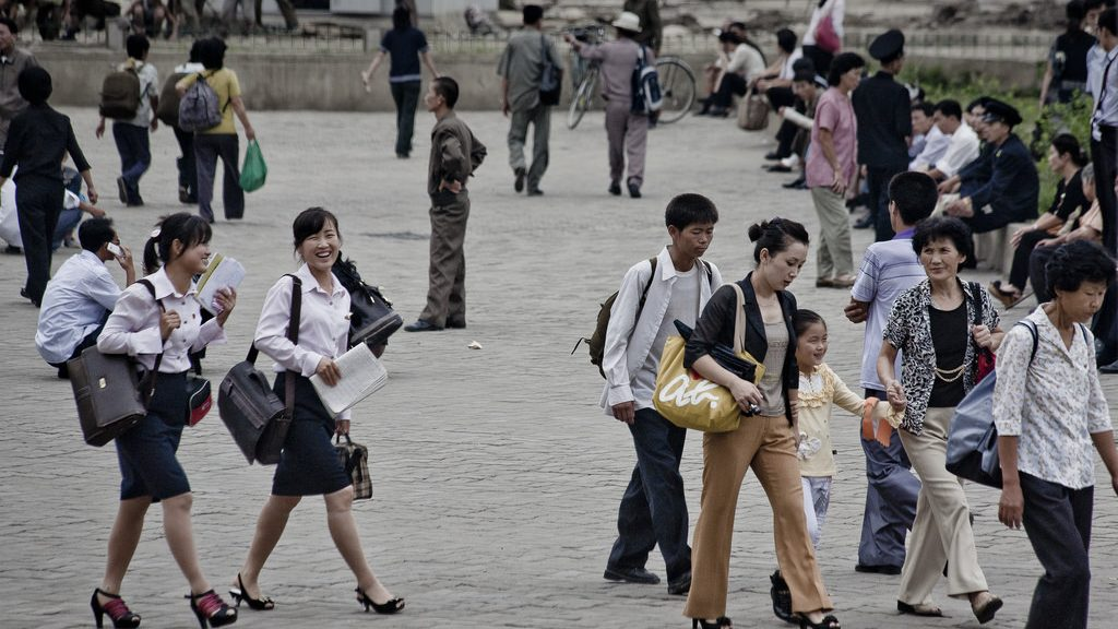 North Korean People in Pyongyang