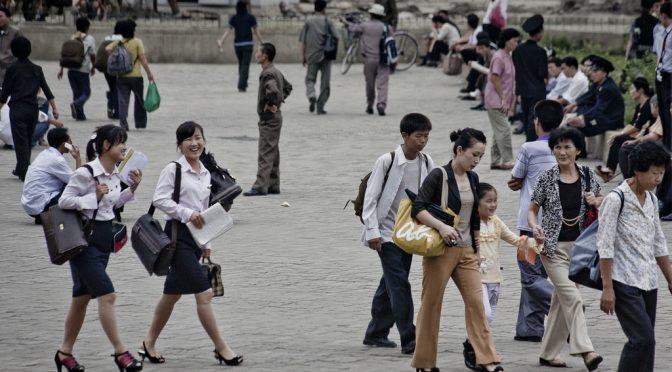 North Korean People in Pyongyang